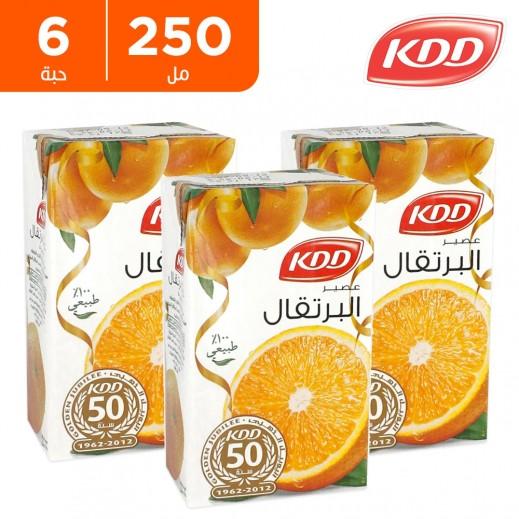 كى دى دى - عصير البرتقال 250 مل ( 6 حبة )