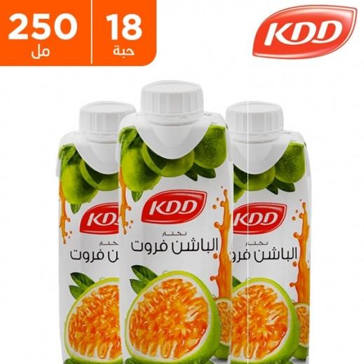 (كى دى دى - عصير الباشن فروت 250 مل ( 18 حبة