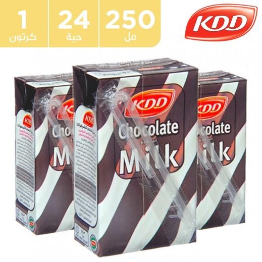كي دي دي حليب بنكهة الشوكولاتة 24 x 250 مل
