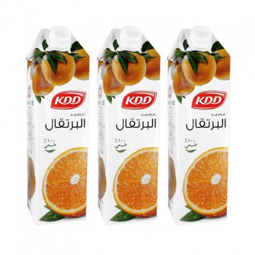 كي دي دي - عصير البرتقال 3 × 1 لتر