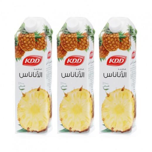 كي دي دي - عصير الأناناس 1 لتر (3 حبة) - عرض التوفير