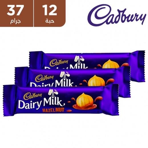كادبوري - شوكولاته حليب بالبندق 12×37 جرام