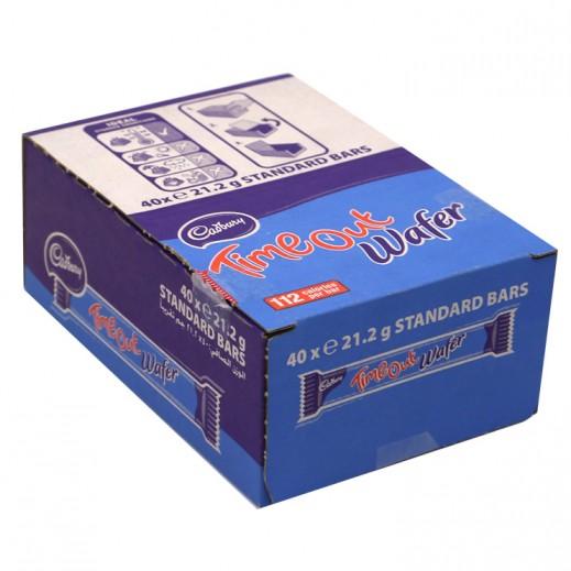 كادبوري - شوكولاته ويفر تايم أوت 40×21.2 جم
