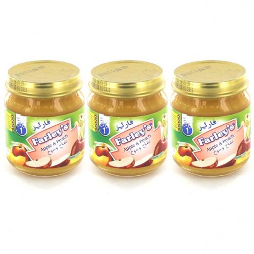 فارليز- غذاء للأطفال بنكهة التفاح والخوخ (3 حبة × 120 جم)
