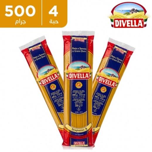 ديفيلا – معكرونة سباغيتي رقم 9 - 4 × 500 جم