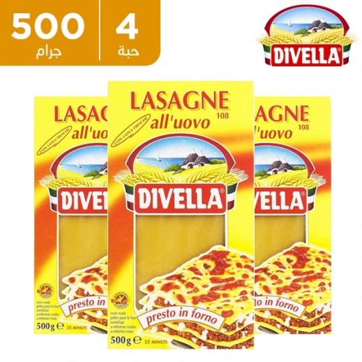 ديفيلا – معكرونة لازانيا رقم 108 - 3 × 500 جم
