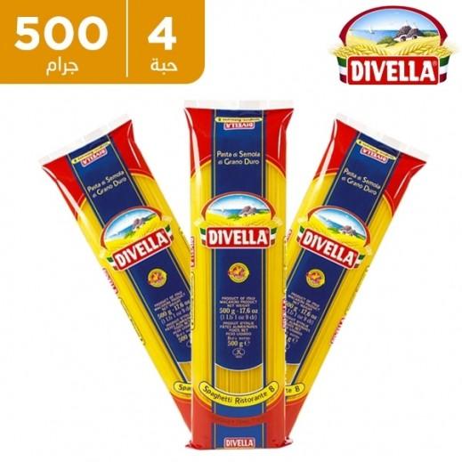 ديفيلا – معكرونة سباغيتي 3 ألوان رقم 8 - 4 × 500 جم