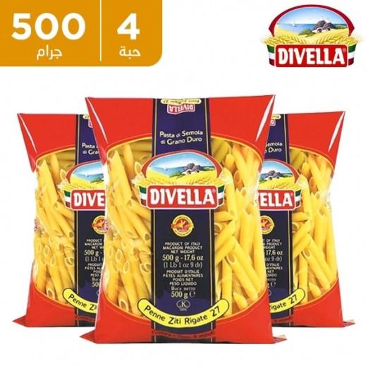 ديفيلا – معكرونة بيني 3 ألوان رقم 27 - 4 × 500 جم