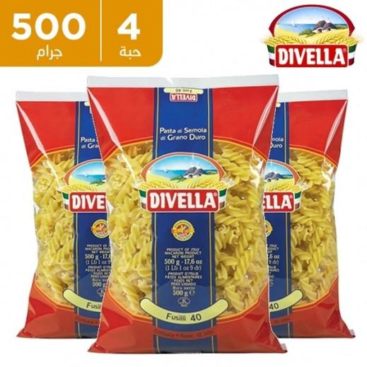 ديفيلا – معكرونة فوسيلي 3 ألوان رقم 40 - 4 × 500 جم