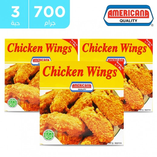 Americana Chicken Wings 3 x 700 g