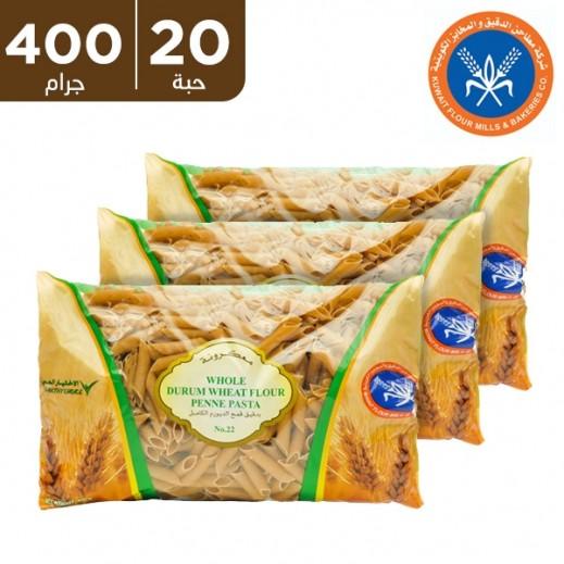 المطاحن – معكرونة بدقيق القمح الكامل رقم 22 400 جم (20 حبة)