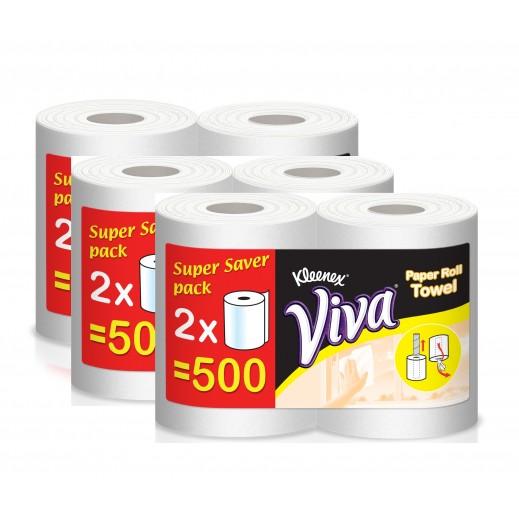 كلينكس فيفا - مناشف للأغراض المنزلية 500 متر ( 2 × 3 رول ) – أسعار الجملة