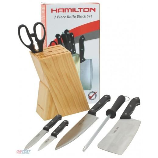 هاميلتون - طقم سكاكين مطبخ بلوك - 7 حبة