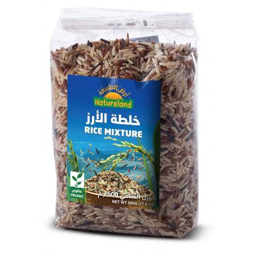 أرض الطبيعة – خلطة الأرز بنكهة الأرز البري 500 جرام