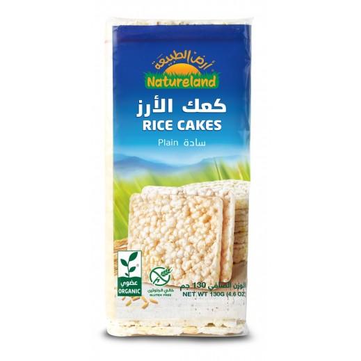 أرض الطبيعة  – كعك الأرز السادة العضوي 130 جم