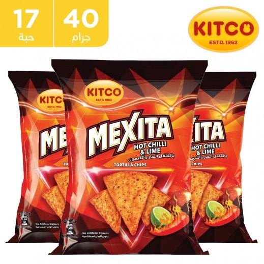 كيتكو – مكسيتا تورتيلا شيبس بنكهة الفلفل الحار والليمون 17 × 40 جم