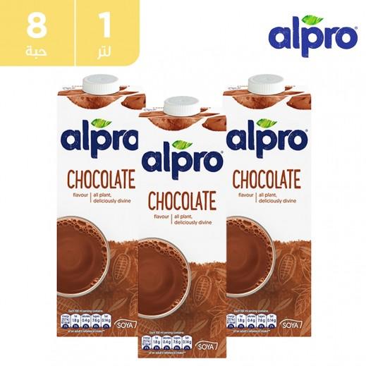ألبرو – مشروب صويا الشوكولاته 8 × 1 لتر