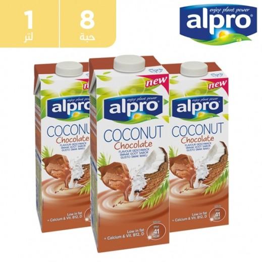 ألبرو – مشروب جوز الهند والشوكولاته 8 × 1 لتر
