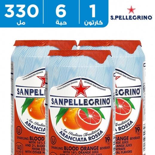 سان بيليغرينو – عصير البرتقال الأحمر الفوار 6 حبة × 330 مل