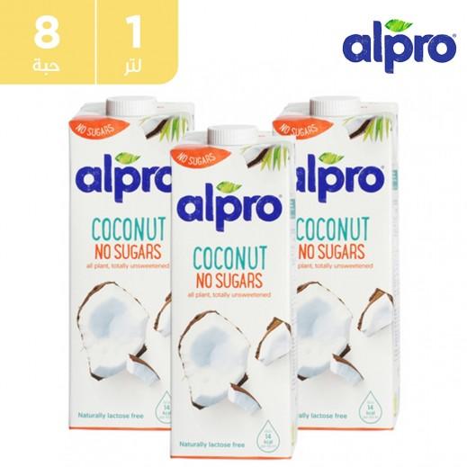 ألبرو – شراب جوز الهند مع الكالسيوم والفيتامينات المضافة غير المحلّى 8 × 1 لتر