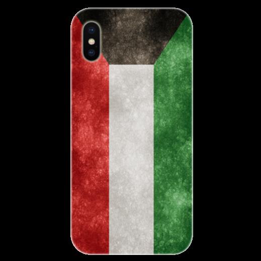 غطاء للهاتف مع تصميم مخصص لعلم دولة الكويت الجديد - الإصدار1 - يتم التوصيل بواسطة Berwaz.com