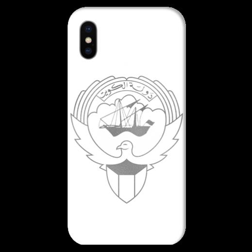 غطاء فضى للهاتف مع تصميم مخصص لشعار دولة الكويت - يتم التوصيل بواسطة Berwaz.com