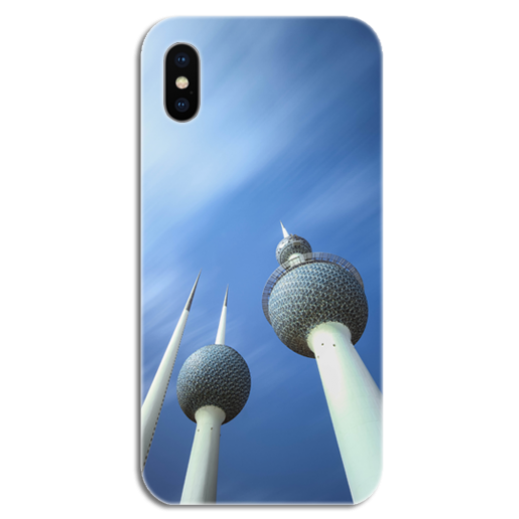 غطاء للهاتف مع تصميم مخصص لأبراج الكويت (أنور سلطان الرومي) - يتم التوصيل بواسطة Berwaz.com