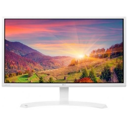 ال جي شاشة كومبيوتر 24 بوصة FULL HD IPS LED ابيض