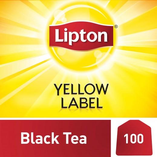 ليبتون - شاي أسود العلامة الصفراء 100 كيس