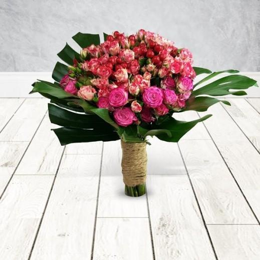 20 وردة بيبي روز فوشيا - يتم التوصيل بواسطة Flowerrique
