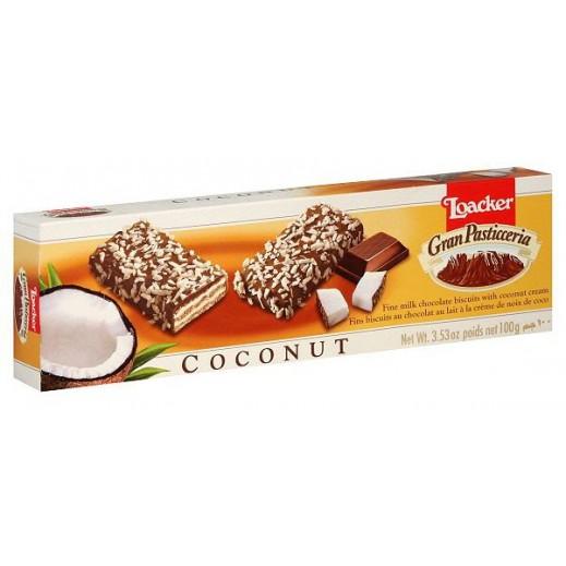 لواكر – بسكويت ويفر بالشوكولاتة و جوز الهند 100 جم