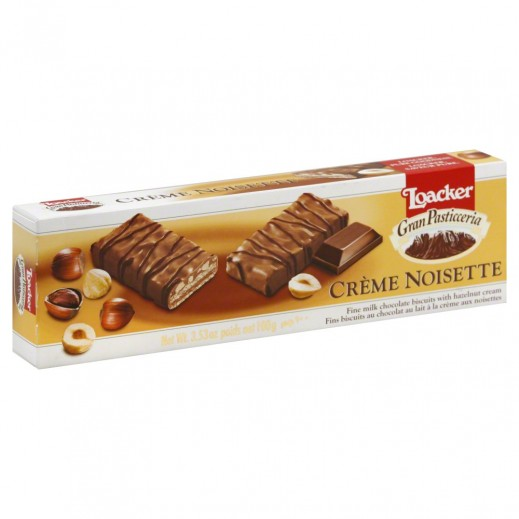 لواكر – بسكويت ويفر بكريمة الشوكولاتة الداكنة 100 جم