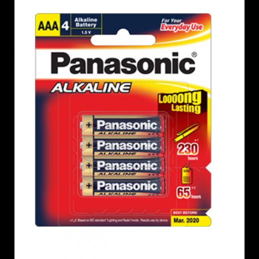 باناسونيك – بطارية ألكالاين 1.5 فولت قياس AAA (عبوة 4 حبة)