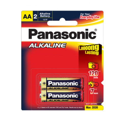 باناسونيك – بطارية ألكالاين 1.5 فولت قياس AA (عبوة 2 حبة)