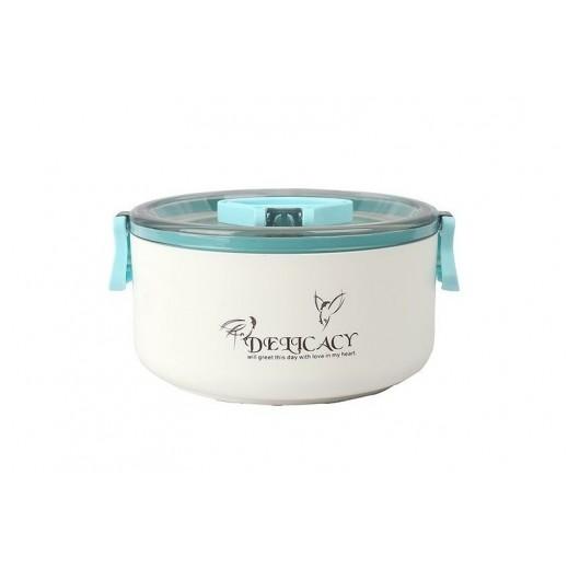 ديليكاسي - صندوق طعام 1.05 لتر - أزرق