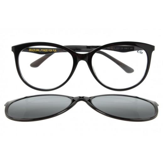تشيلي بينز - نظارة شمسية للسيدات لون أسود - يتم التوصيل بواسطة F3 Sunglasses