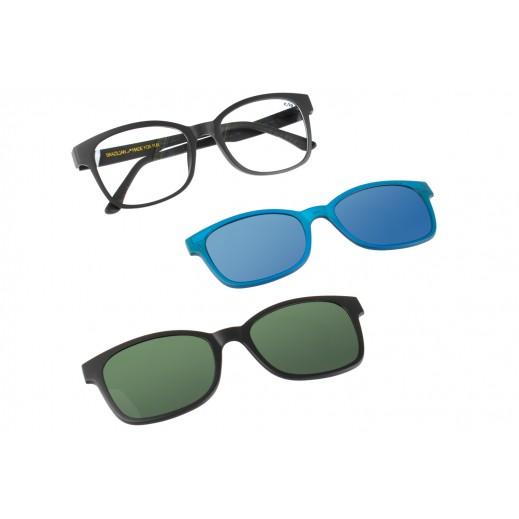 تشيلي بينز - نظارة شمسية للسيدات مع عدسات قابلة للتبديل - ذهبي / أسود - يتم التوصيل بواسطة F3 Sunglasses
