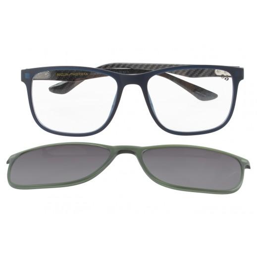 تشيلي بينز - نظارة شمسية لكلا الجنسين مع عدسات قابلة للتبديل - أزرق  - يتم التوصيل بواسطة F3 Sunglasses