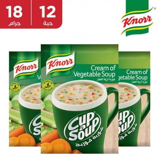 كنور  - شوربة كريمة الخضروات 12 × 18 جم