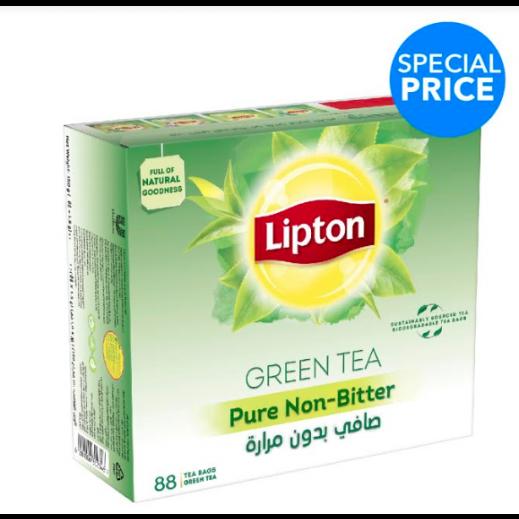 ليبتون - شاي أخضر بدون مرارة 88 كيس