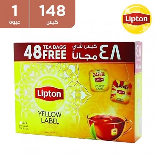 ليبتون - شاي أسود بالعلامة الصفراء 100 كيس (+ 48 مجانا)
