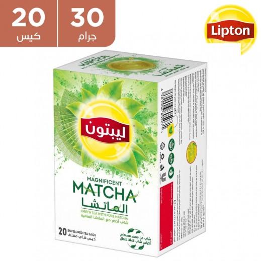 ليبتون - شاي أخضر مع الماتشا الصافية 20 × 30 جم