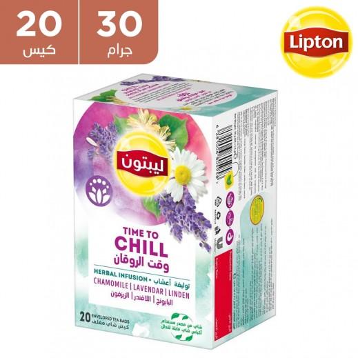 ليبتون - شاي الأعشاب تايم تو شيل بالفانيلا والكراميل 20 × 30 جم