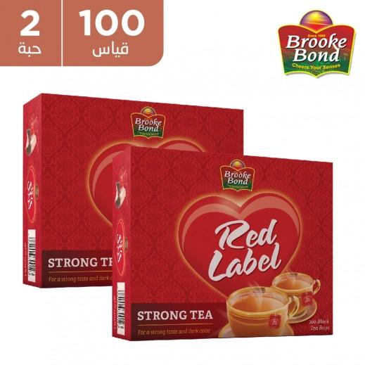 بروك بوند شاي سترونج العلامة الحمراء 2 × 100 كيس شاي