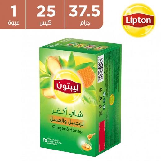 ليبتون – شاي أخضر بالزنجبيل و العسل 37.5 جم ( 25 كيس شاي )