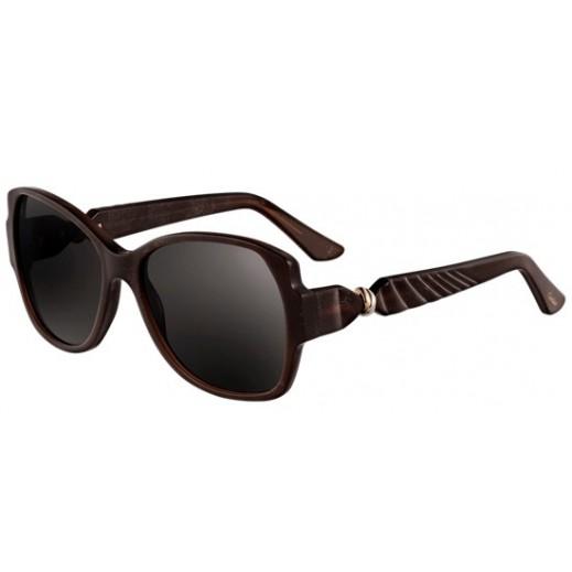 كارتير – نظارة شمسية (Trinity De Cartier) بني للسيدات   - يتم التوصيل بواسطة Waleed Optics