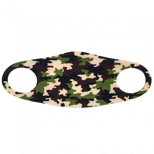 مزاجي - قناع وجه الاطفال المعقم بتصميم الجيش التمويه