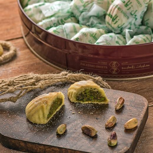معمول بالفستق كبير 500 جم - يتم التوصيل بواسطة Zalatimo Sweets
