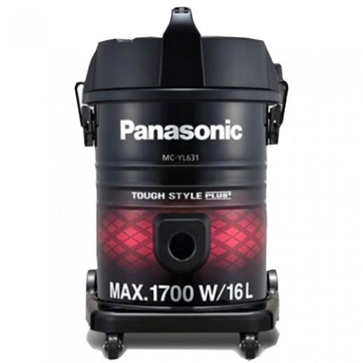 باناسونيك – مكنسة كهربائية درام 1700 واط 16 لتر – أسود و أحمر - يتم التوصيل بواسطة EASA HUSSAIN AL YOUSIFI & SONS COMPANY