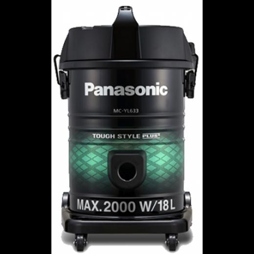 باناسونيك – مكنسة كهربائية درام 2000 واط 18 لتر – أسود و أخضر - يتم التوصيل بواسطة EASA HUSSAIN AL YOUSIFI & SONS COMPANY
